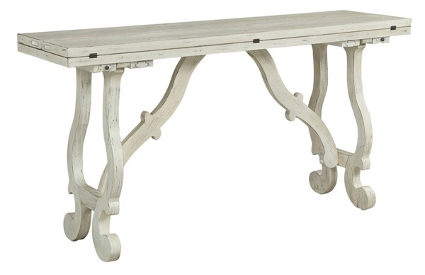 Coast to Coast Orchard Park White Fold Out Rectangle Console Table CTC-22523
