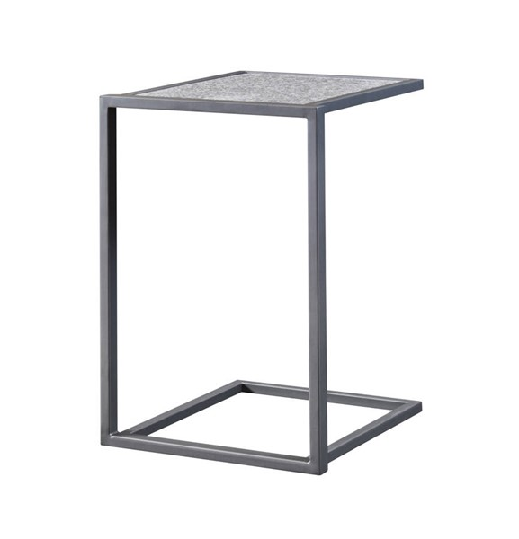 Coast to Coast Grey Powdercoat Granite Accent Table CTC-22548