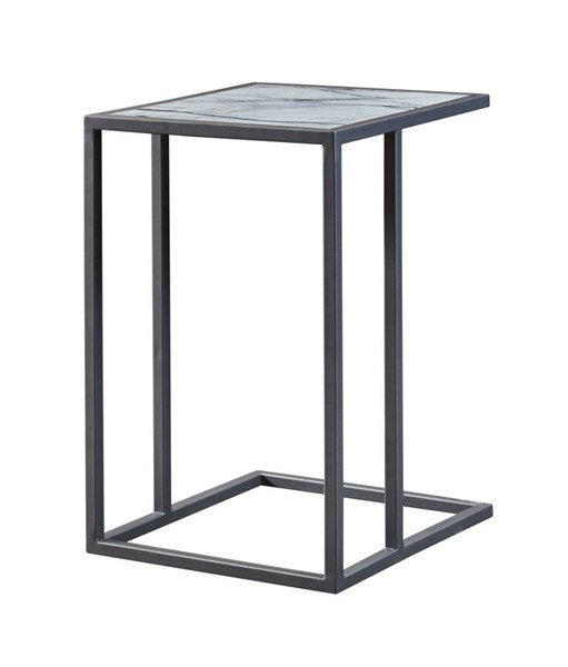 Coast to Coast Grey Powdercoat Marble Accent Table CTC-22549