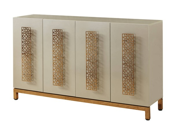 Coast to Coast Silas Sandy Gold Four Door Media Credenza CTC-22551