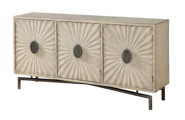 Coast to Coast Dayton Cream Three Door Media Credenza CTC-22568