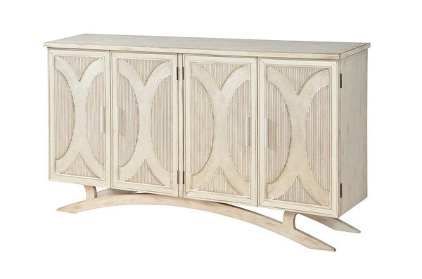 Coast to Coast White Silver Four Door Media Credenza CTC-22569