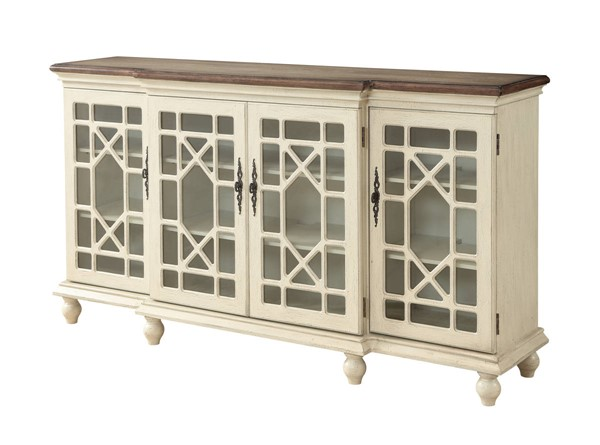 Coast to Coast Mills Ivory Four Door Media Credenza CTC-22580