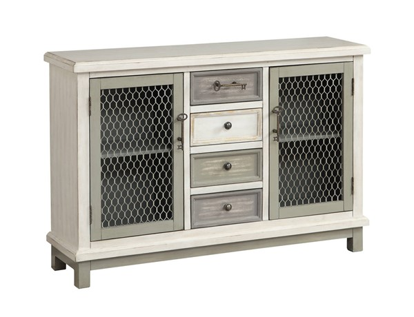 Coast to Coast MDF Iron Two Door Four Drawer Credenza CTC-22588
