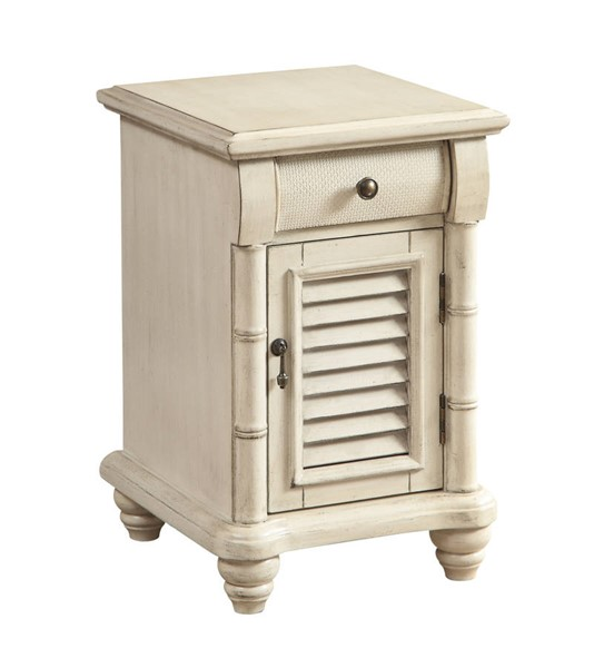 Coast to Coast Sand One Door One Drawer Chairside with Power CTC-22593