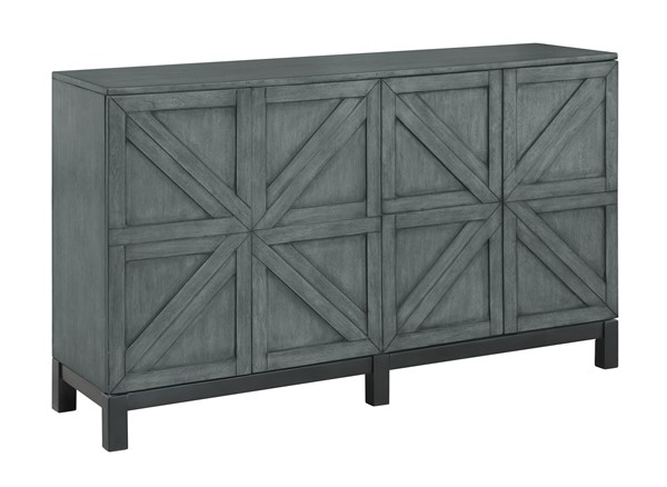 Coast to Coast Magnet Grey Four Doors Media Credenza CTC-30402