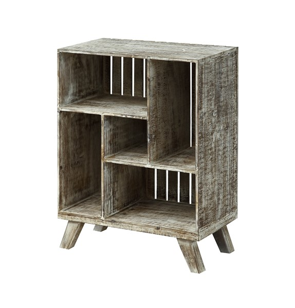 Coast to Coast West Bay Brown White Crate Bookcase CTC-30414