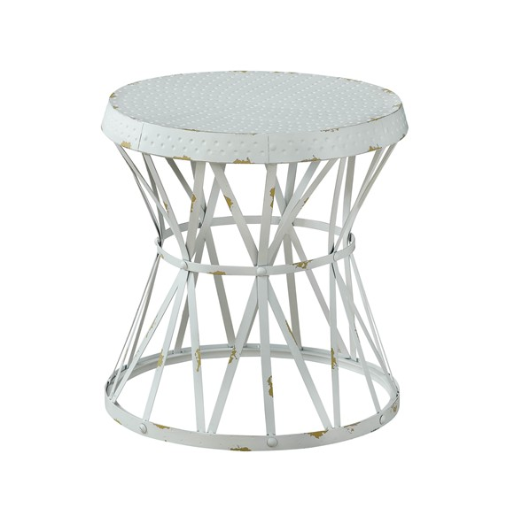 coast to coast reef white round accent table. Black Bedroom Furniture Sets. Home Design Ideas