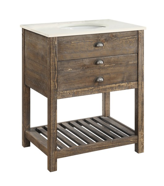 Coast to Coast Cayhill Brown Single Vanity Sink CTC-30448