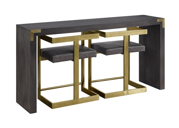 Coast to Coast Estate Grey Console Table with Two Stools CTC-30454