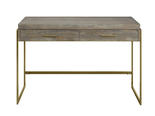 Coast to Coast Biscayne Brown Two Drawers Desk CTC-30460
