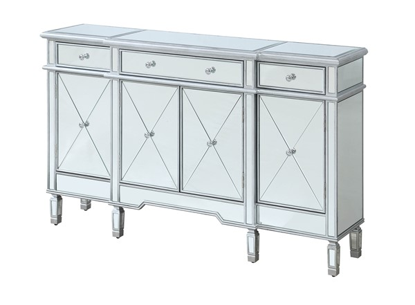 Coast to Coast Tinsel Silver Three Drawers Credenza CTC-30482