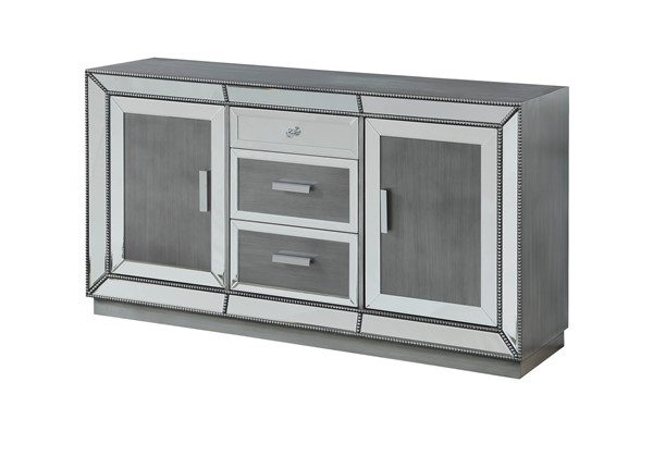 Coast to Coast Galena Grey Three Drawers Media Credenza CTC-30485