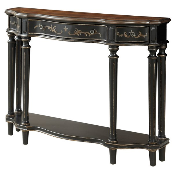 Coast to Coast Black Brown Three Drawer Console Table CTC-30488