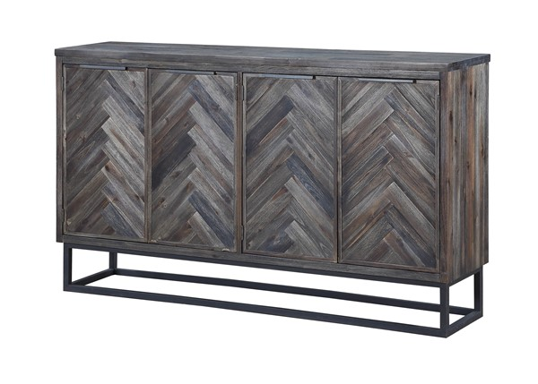 Coast To Coast Aspen Court Brown Four Doors Media Credenza CTC-30546