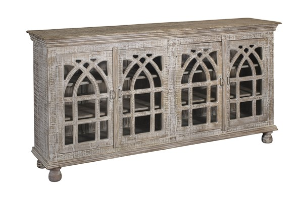 Coast to Coast White Four Doors Media Credenza CTC-34700