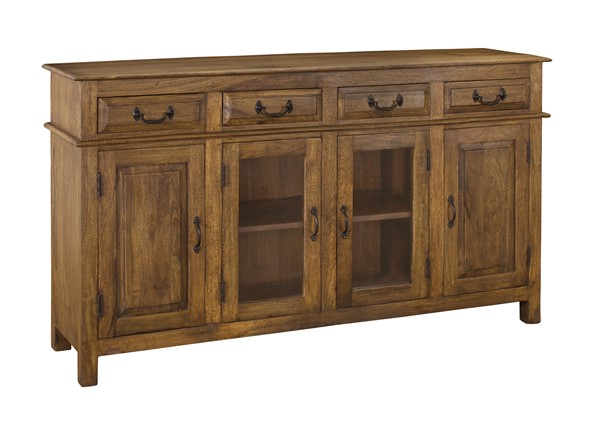 Coast to Coast Liberty Brown Four Drawers Credenza CTC-34702