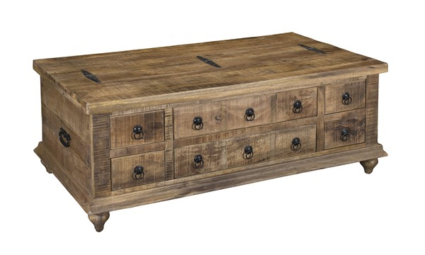 Coast to Coast Crossroads Brown Six Drawers Trunk Table CTC-34713