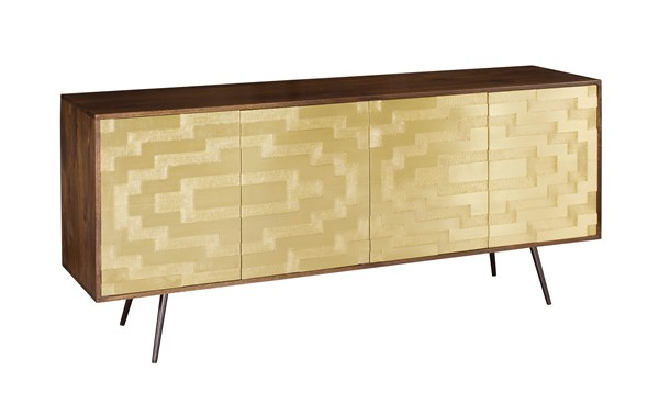 Coast to Coast Black Four Doors Media Credenza CTC-34717