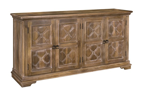 Coast to Coast Clover Brown Four Doors Media Credenza CTC-34719