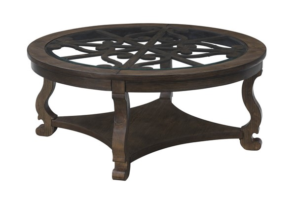 Coast to Coast Orchard Park Brown Round Cocktail Table CTC-36529