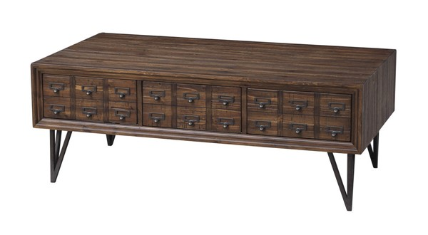 Coast to Coast Oxford Distressed Brown Cocktail Table CTC-36538