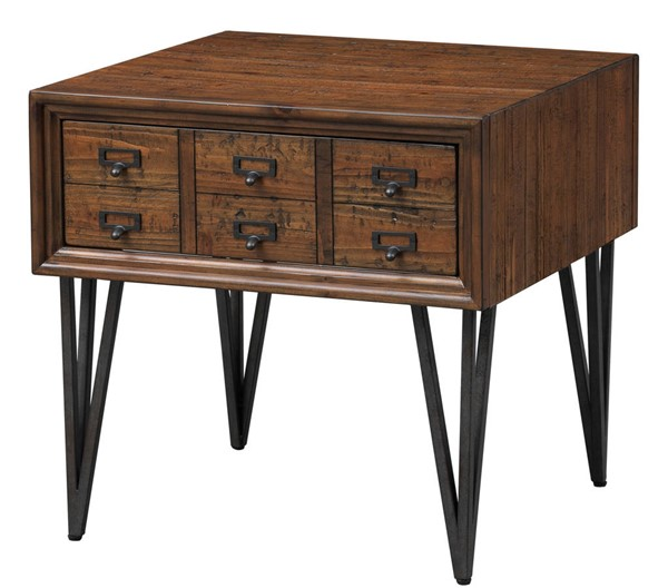Coast to Coast Oxford Distressed Brown One Drawer End Table CTC-36539