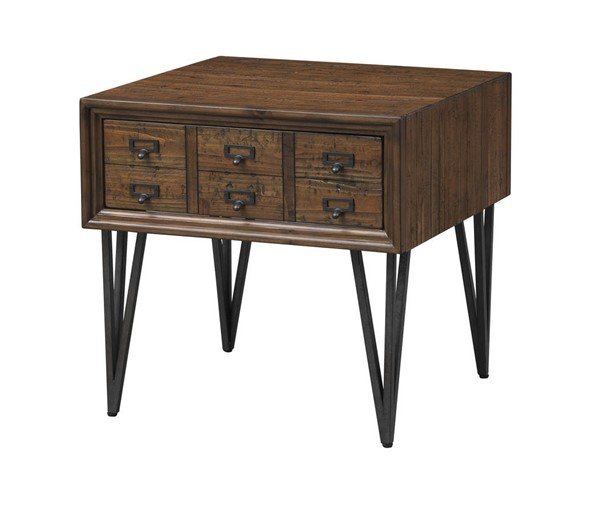Coast to Coast Oxford Distressed Brown End Table CTC-36539