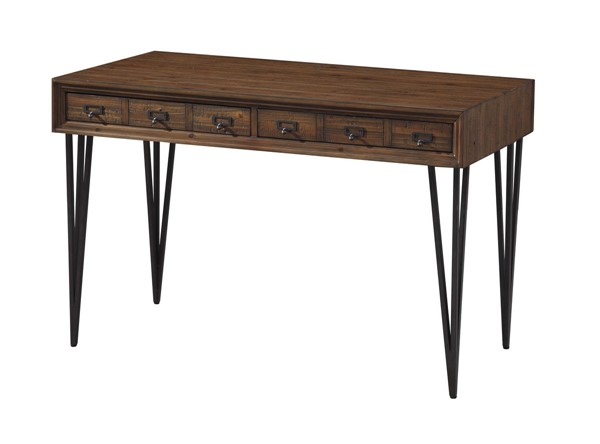 Coast to Coast Oxford Distressed Brown Writing Desk Console Table CTC-36540