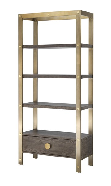 Coast to Coast Vista Gold One Drawer Bookcase CTC-36579