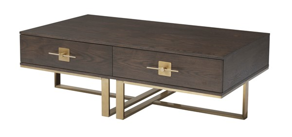 Coast to Coast Midas Gold Two Drawer Cocktail Table CTC-36590
