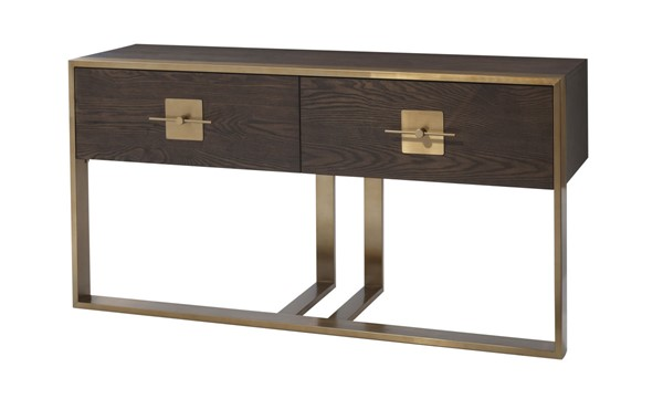 Coast to Coast Midas Gold Two Drawer Console Table CTC-36592