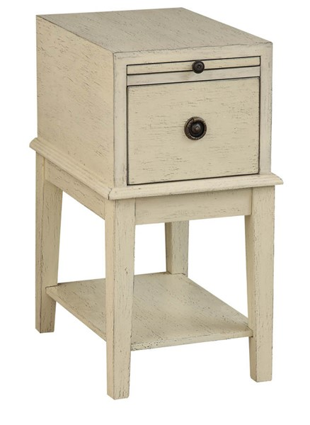 Coast To Coast Ivory One Drawer Chairside Table CTC-36599