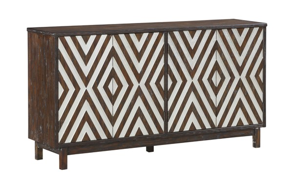 Coast to Coast Brown MDF Media Credenza CTC-36636