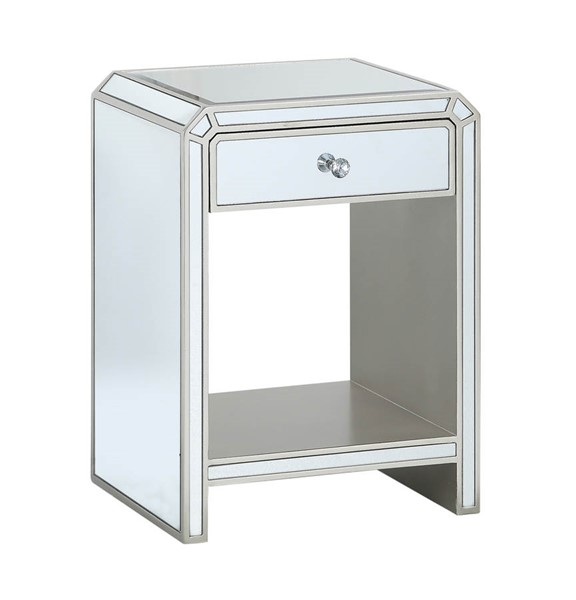 Coast to Coast Reflections Champagne One Drawer Chairside Table CTC-36644
