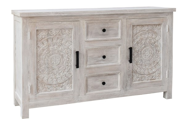 Coast to Coast White Wash Two Door Credenza CTC-37124