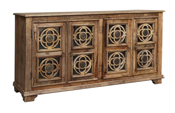 Coast to Coast Brown Four Door Media Credenza CTC-37133