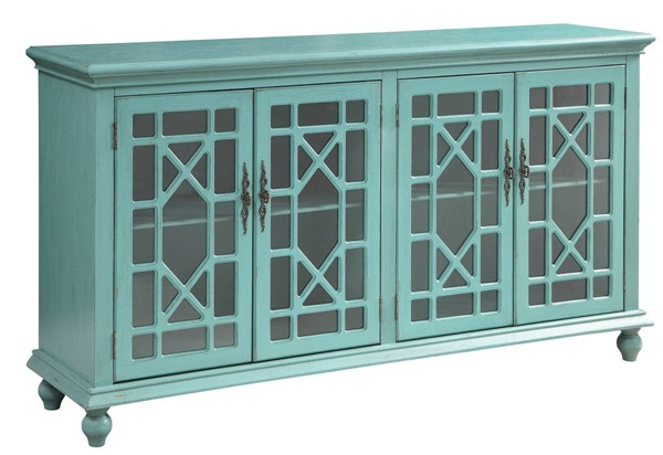 Coast To Coast Blue MDF Four Doors Media Credenza CTC-39620