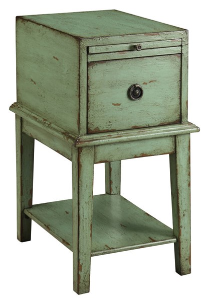Coast To Coast Green One Drawer Chairside Table CTC-39625