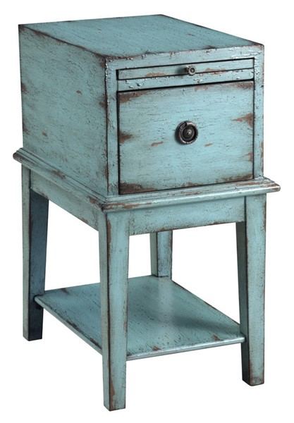 Coast To Coast Teal One Drawer Chairside Table CTC-39626