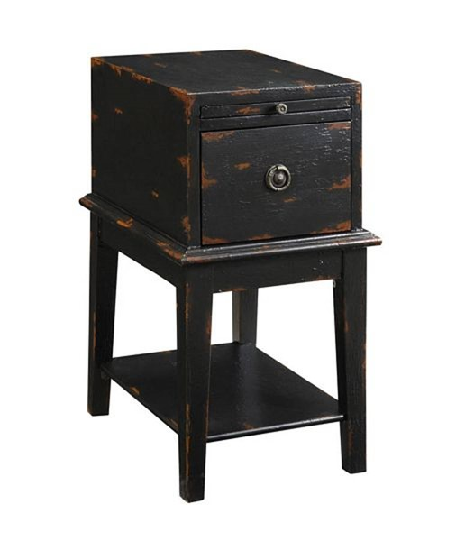 Coast To Coast Black One Drawer Chairside Table CTC-39627
