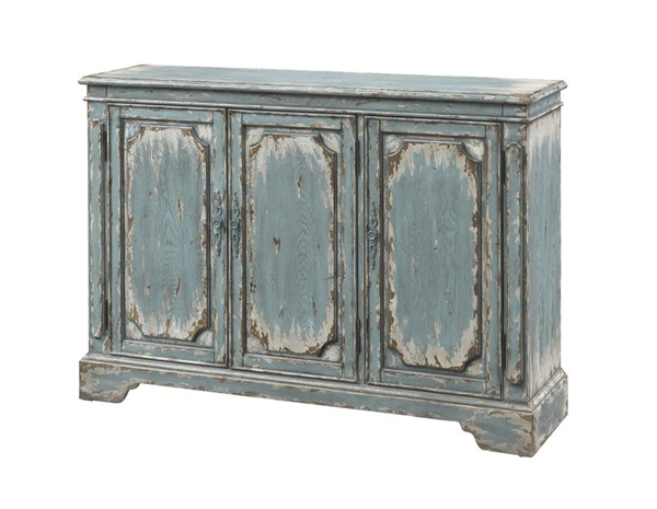 Coast to Coast Blue Three Door Media Credenza CTC-40201