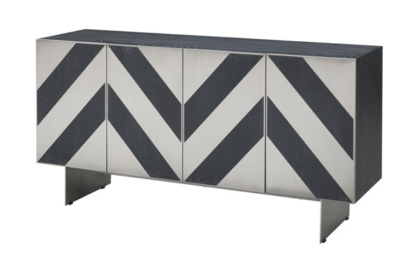 Coast to Coast Chelsea Charcoal Four Door Media Credenza CTC-40211