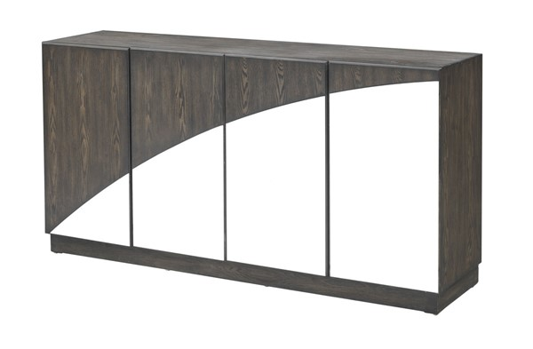 Coast to Coast Walnut Four Door Media Credenza CTC-40228