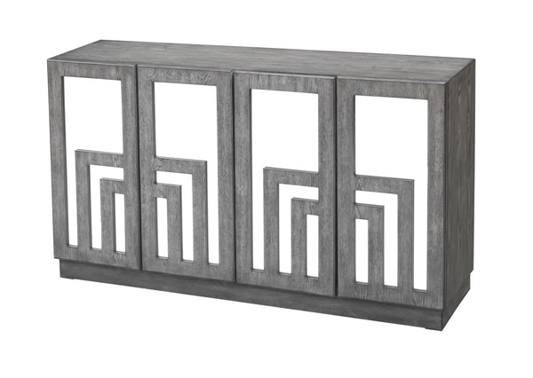 Coast to Coast Grey Brown Four Door Media Credenza CTC-40230