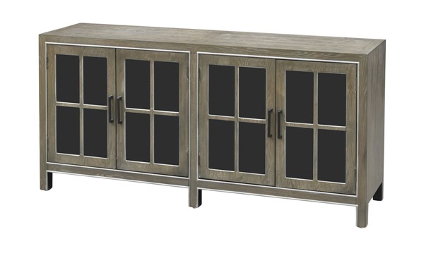 Coast to Coast Brown Grey Four Door Media Credenza CTC-40238
