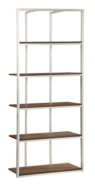 Coast to Coast Silver Wall Recessed Etagere Bookcase CTC-40243