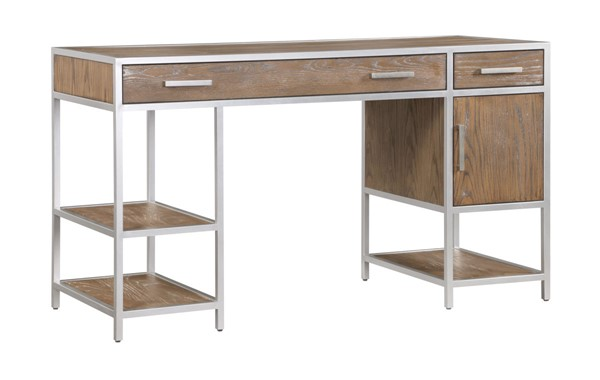 Coast to Coast Silver One Door Two Drawer Writing Desk CTC-40245