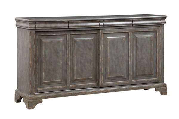 Coast to Coast Grey Four Sliding Door Media Credenza CTC-40253