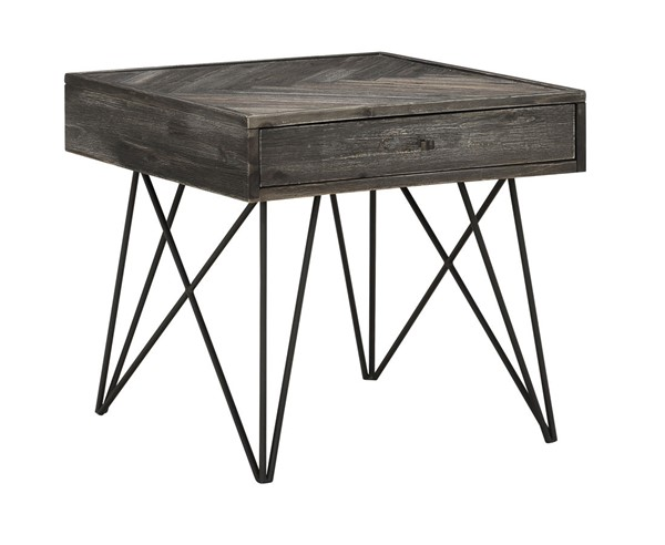 Coast To Coast Aspen Court Charcoal Grey Brown One Drawer End Tables CTC-40280-ET-V1
